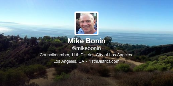 Mike Bonin Twitter Feed