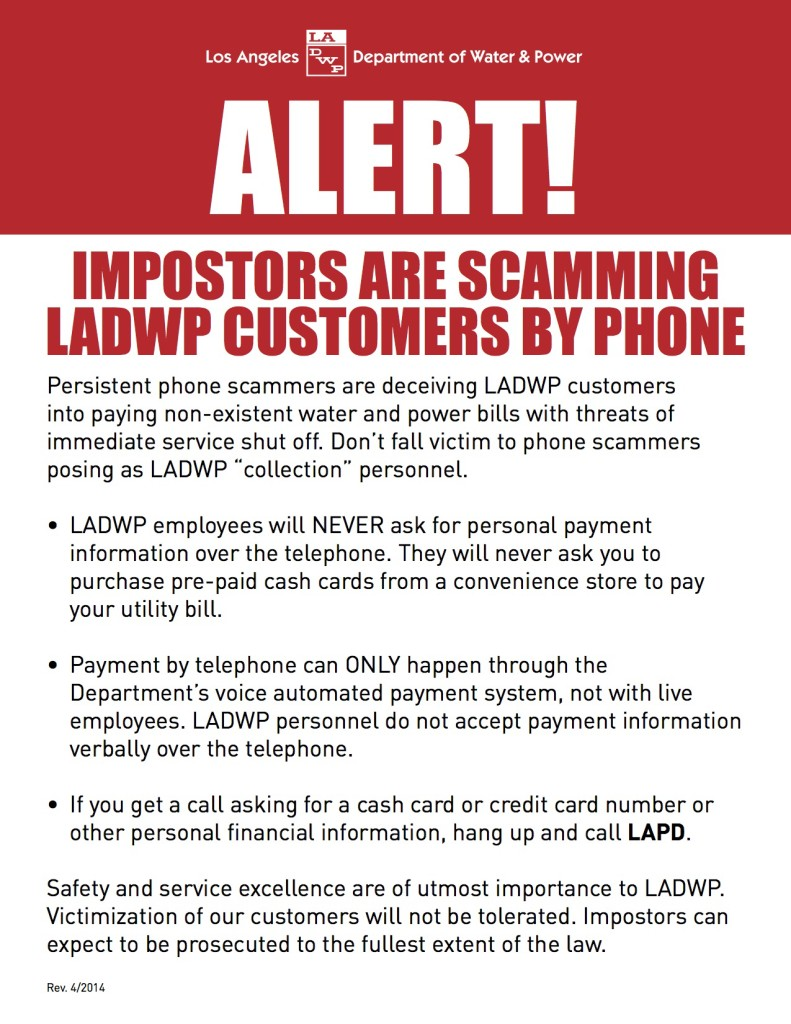 Phone Scam Flyer 041414