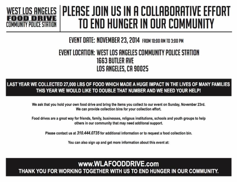 Food Drive: LAPD