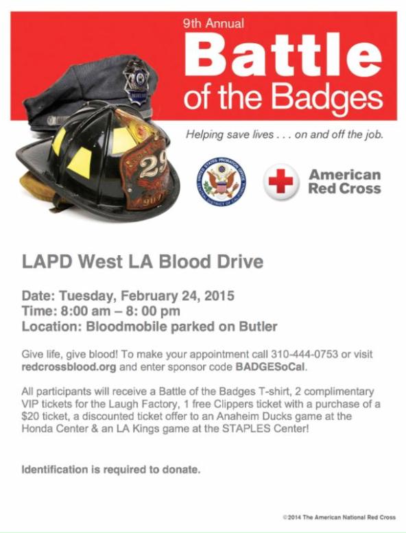 LAPD Blood Drive